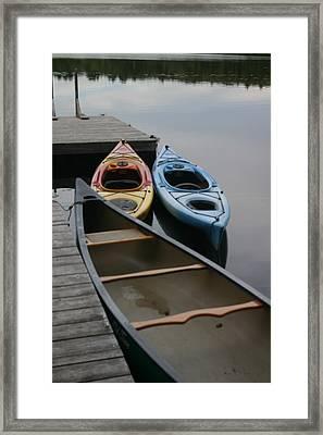 Canoe Framed Print by Dennis Curry