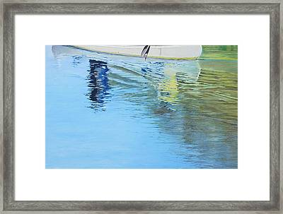 Canoe For Two Framed Print by Richard Laycock