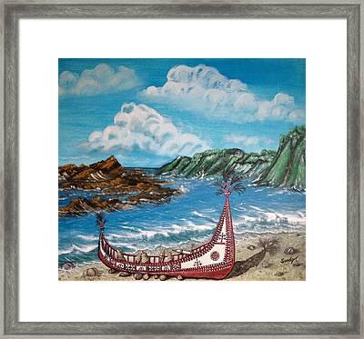 Canoe In Lanyu Island Framed Print
