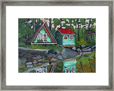 Canoe Lake Bunkies Framed Print