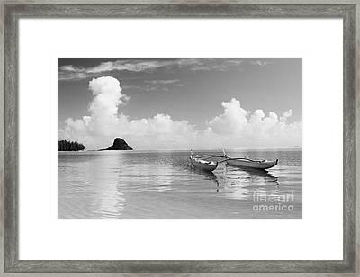 Canoe Landscape - Bw Framed Print by Joss - Printscapes