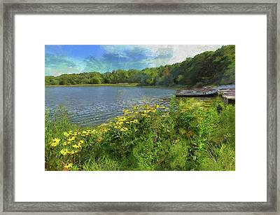 Canoe Number 9 Framed Print