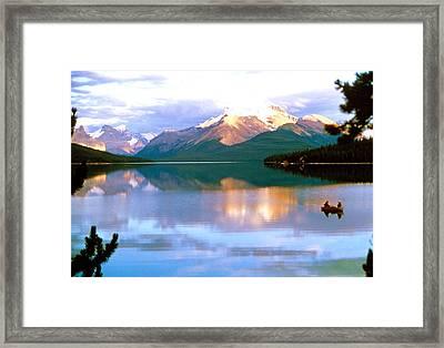Canoe On Malign Lake Framed Print
