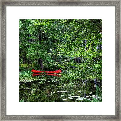 Canoe On The Shore Framed Print by David Patterson