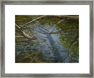 Canoe Painting 1 Framed Print by Jason Sawtelle