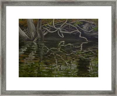 Canoe Painting 2 Framed Print by Jason Sawtelle