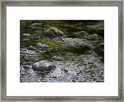 Canoe Painting 4 Framed Print by Jason Sawtelle