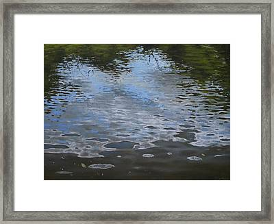 Canoe Painting 9 Framed Print by Jason Sawtelle