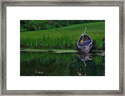 Canoe Reflection Framed Print