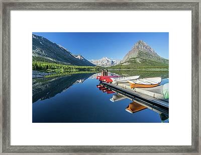 Canoe Reflections Framed Print by Alpha Wanderlust