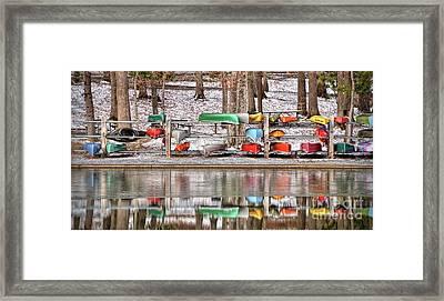 Canoe Reflections Framed Print