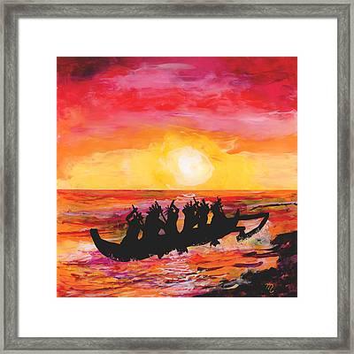 Canoe Ride Framed Print