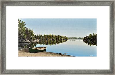 Canoe The Massassauga Framed Print by Kenneth M  Kirsch