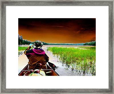 Canoe Trip Framed Print by Peter  McIntosh