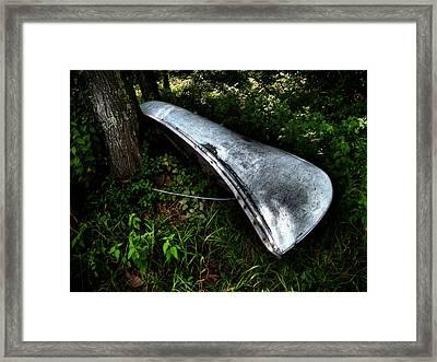 Canoe Framed Print by Wayne Higgs