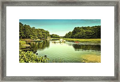 Canoeing Framed Print by Gina Cormier