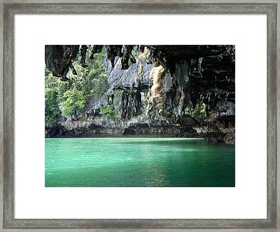Canoeing In Thailand Framed Print by Kelly Jones
