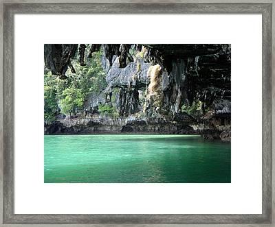 Canoeing In Thailand Framed Print by Kelly Jones