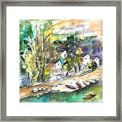 Canoeing In The Gorges Du Tarn Framed Print by Miki De Goodaboom