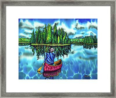 Canoeing Ontario Framed Print by Daniel Jean-Baptiste