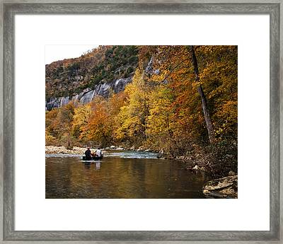 Framed Print featuring the photograph Canoeing The Buffalo River At Steel Creek by Michael Dougherty