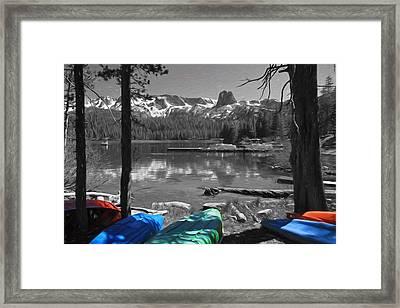 Canoes At Lake Mary Framed Print