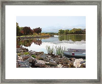Canoes On Monee Lake - Limited Edition Framed Print