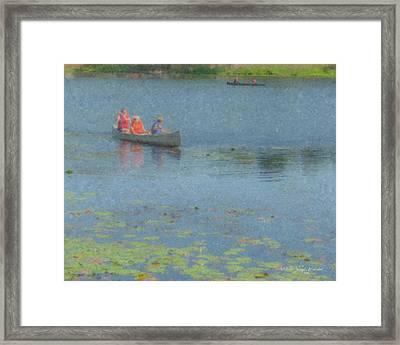 Canoes On Shovelshop Pond Framed Print