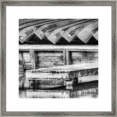 Canoes On The Platte Framed Print by Twenty Two North Photography
