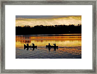 Canoes On The Potomac River Framed Print