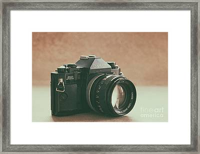 Framed Print featuring the photograph Canon A1 by Ana V Ramirez