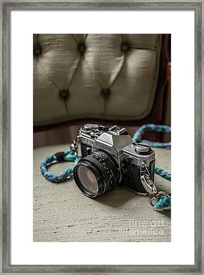 Canon Ae-1 Film Camera Framed Print by Edward Fielding