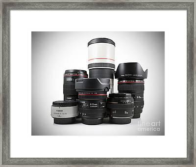 Canon Lenses Framed Print by Brandon Alms