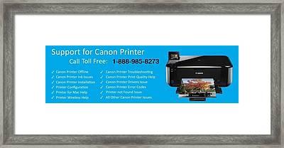 Canon Printer Customer Service  Framed Print