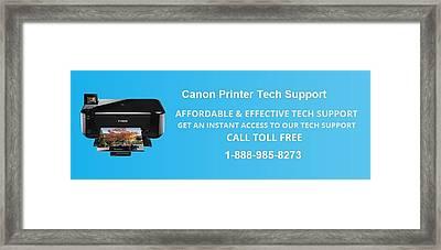 Canon Printer Tech Support  Framed Print