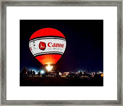 Canon - See Impossible - Hot Air Balloon Framed Print