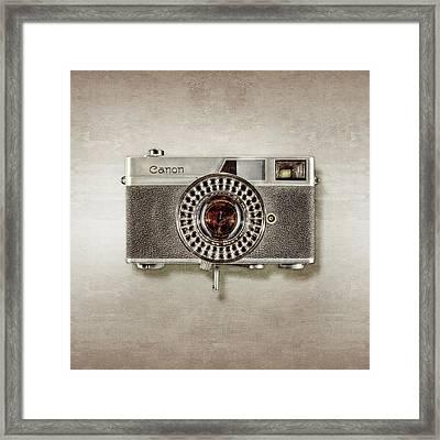 Canonete Film Camera Framed Print