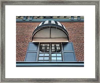 Framed Print featuring the photograph Canopy And Reflection In Window by Gary Slawsky
