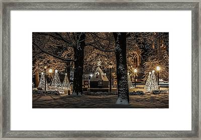 Framed Print featuring the photograph Canopy Of Christmas Lights by Kendall McKernon
