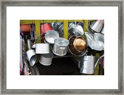 Cans And Pans Framed Print by Totto Ponce