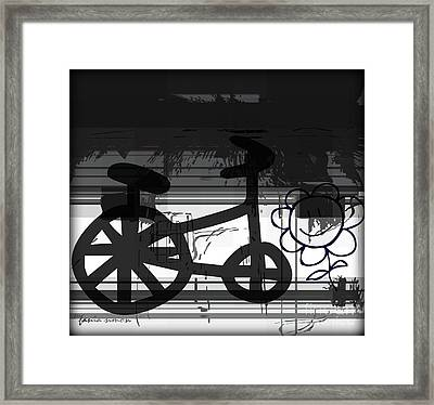 Can't Ride A Bike But I Can Fly Framed Print by Fania Simon