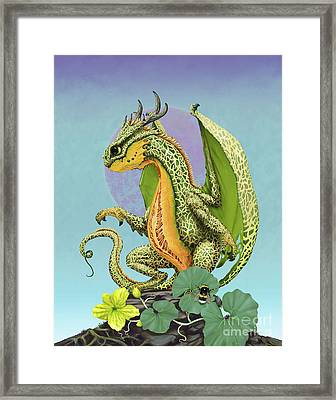 Framed Print featuring the digital art Cantaloupe Dragon by Stanley Morrison