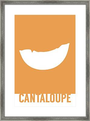 Cantaloupe Food Art Minimalist Fruit Poster Series 018 Framed Print