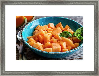 Cantaloupe For Breakfast Framed Print