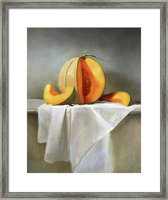 Cantaloupes Framed Print