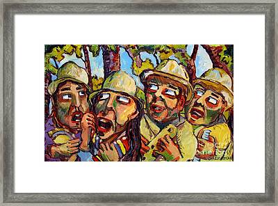 Cantante De La Mujer En La Banda Framed Print by Charlie Spear