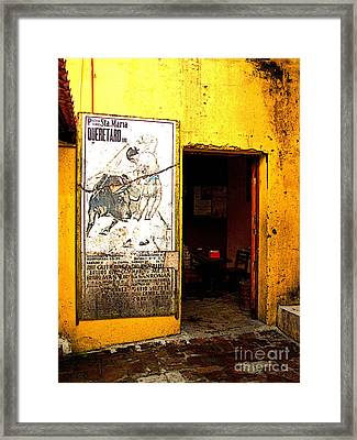 Canteena Passage Framed Print by Mexicolors Art Photography
