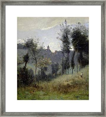 Canteleu Near Rouen Framed Print by Jean Baptiste Camille Corot