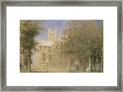 Canterbury Cathedral Framed Print by Albert Goodwin
