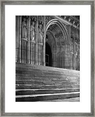 Canterbury Cathedral Choir Entrance Canterbury England Framed Print by Richard Singleton